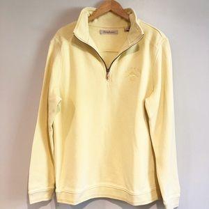 TOMMY BAHAMA Yellow ZIP Up Long sleeve Sweater
